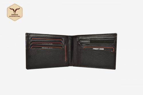 BI-24032 | RFId Leather Wallet With Zip Coin Pocket
