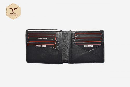 BI-27002 | Bifold Leather Wallet With RFID Protected
